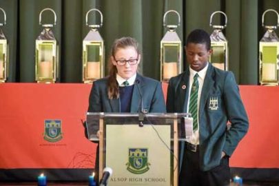 Pupils commemorate the 30 young men from Walton