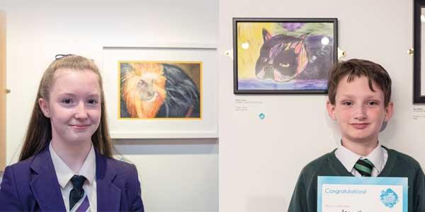 2015 dot-art winners Nyah Boorman and Aidan Owen