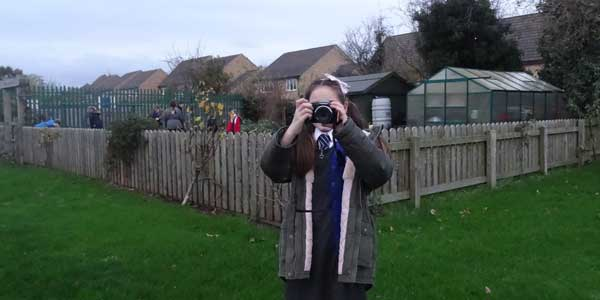 A young photographer from Halewood C of E Primary