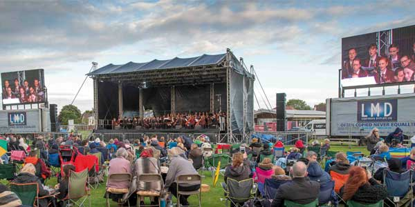 St Mary's Blundell Park playing field was the setting for the spectacular concert