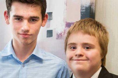 Eco champion Alfie Butler (right) winner of the Community Ambassador award