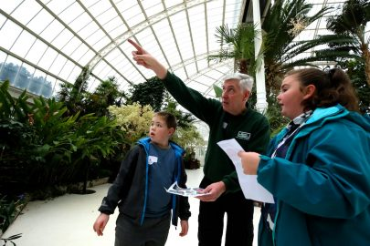 Palm House staff explained the different flower and plant types
