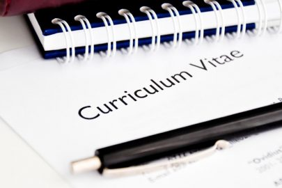 Three top tips for making your professional CV
