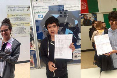 Students Fiorella Gallardo, GCSE Results Day Educate Magazine Academy of St Francis Assisi