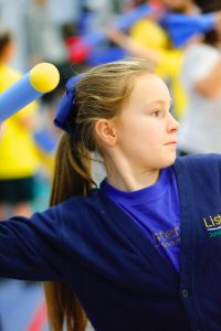 A Lister pupil prepares to throw