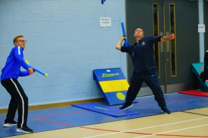 The javelin competition for teachers was a great success