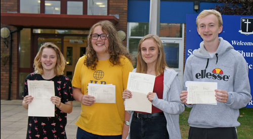 St Michael's CE High School students are celebrating their superb results