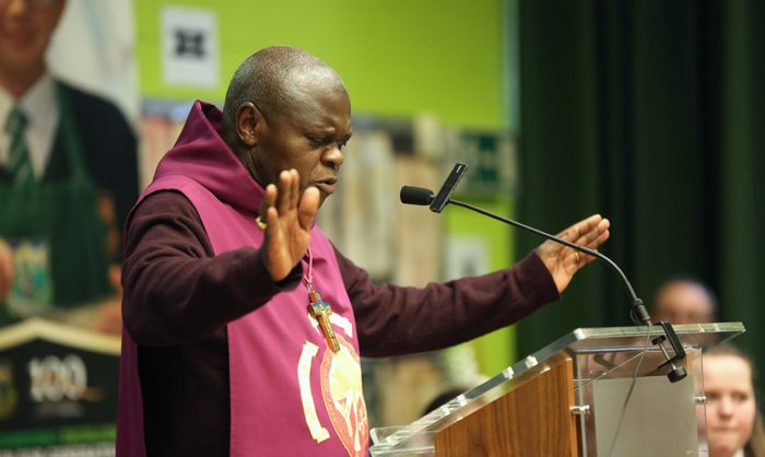 The first blessing by Archbishop Sentamu