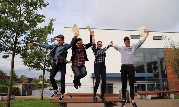 Rainford High students jump for joy