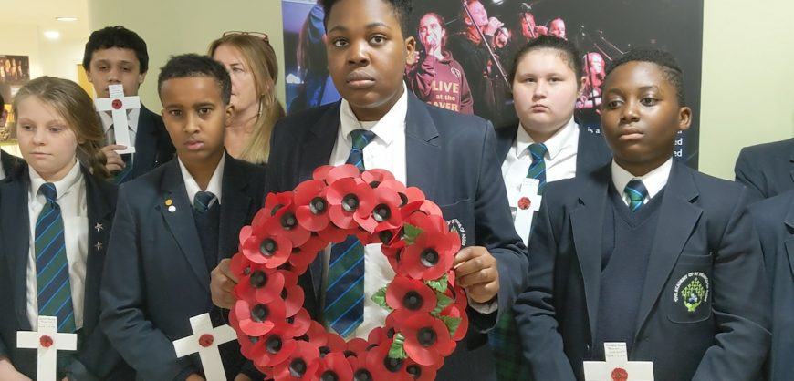 ASFA students create a war memorial for Armistice Day