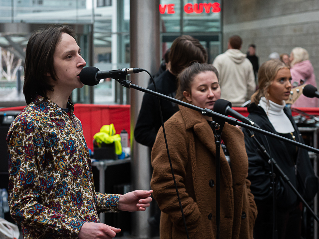 LIPA Sixth Form College students performed at Liverpool ONE