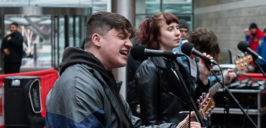 Students performed a range of BritPop classics