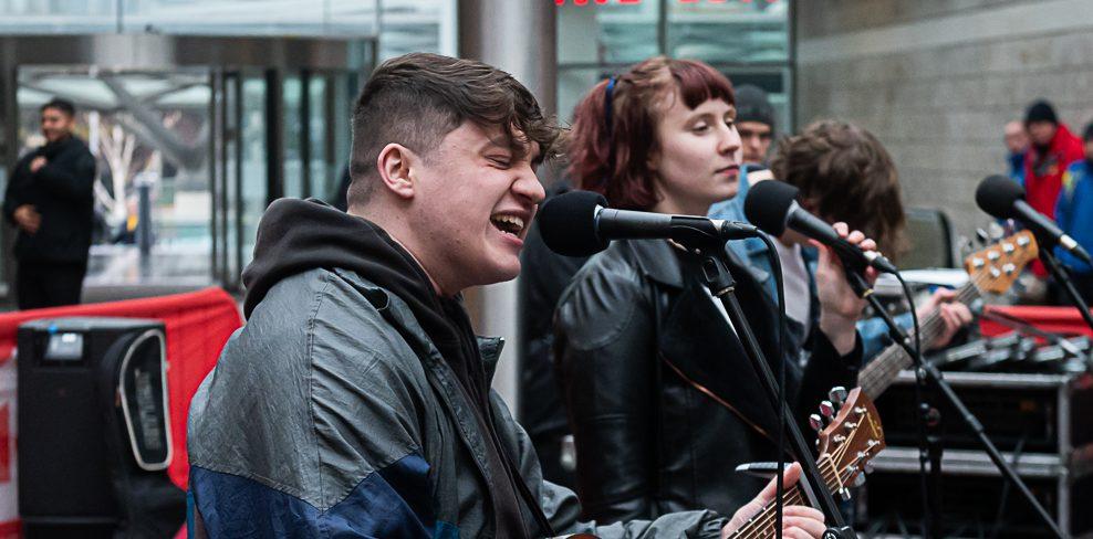 Students performed a range of BritPop classics