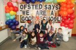 Pupils celebrate the news of their 'Good' Ofsted report