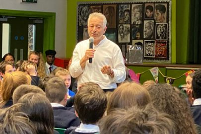 Frank Cottrell Boyce promotes World Book Day at Alsop