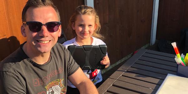 Tackling maths - Craig Tilstone and his daughter