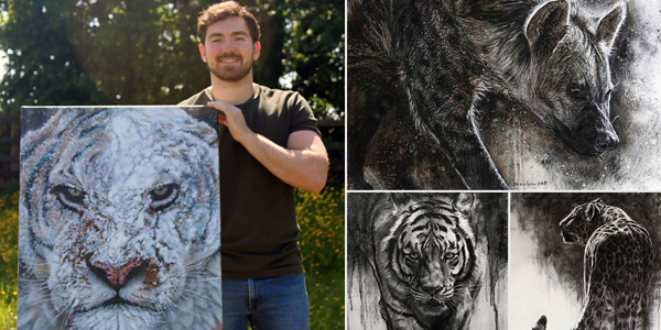 Carmel College biology teacher, Daniel Wilson has been shortlisted in an internationally renowned wildlife art competition