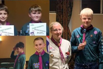 A Merseyside group of Scouts celebrate national achievement and community involvement