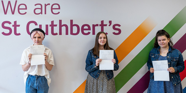 St Cuthbert's GCSE students celebrate GCSE success