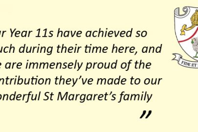 Students from St Margaret's Academy celebrate a 'unique' results day