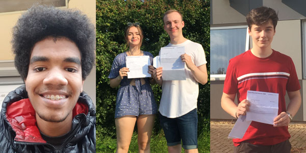 Winstanley College students celebrate their A-level results this morning, marking the end of the most unusual year