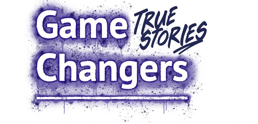 Logo for Game Changers_ True Stories