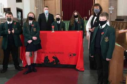 Alsop students film special collective assembly for Remembrance Sunday