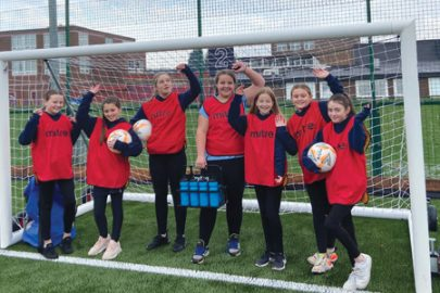 St Cuthbert's wins PE equipment for girls football