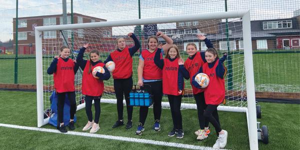 St Cuthbert's wins PE equipment for girls football