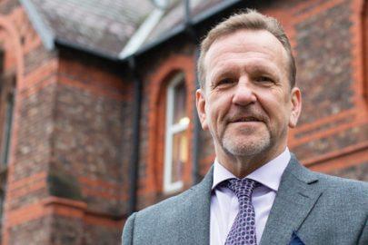 Dr John Patterson, headteacher of St Vincent's School