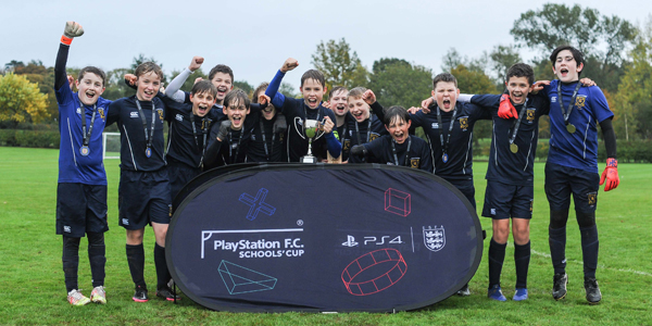 Students and staff at St Mary's College in Crosby are celebrating after football teams