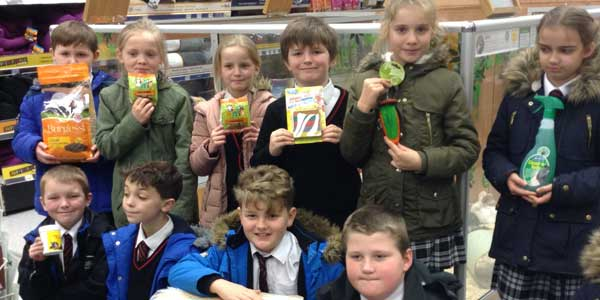 Bishop Sheppard pupils buy supplies for their new guinea pigs