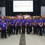 The staff from AstraZeneca, the chief sponsors of the event
