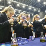 Children could conduct their own experiments at the interactive event