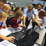 Experts were on hand to explain their services to the children