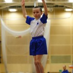 A graceful dismount for this Prescot gymnast