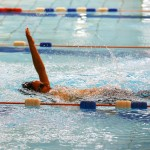 Action from the backstroke