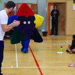 The Merseyside School Games' mascot, Jigstar, made an unexpected appearance