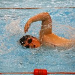 A strong arm is required in the freestyle