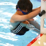 Ready to go in the backstroke