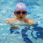 Cutting through the water in the breaststroke