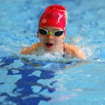 This swimmer shows good focus