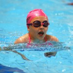 Action from the breaststroke