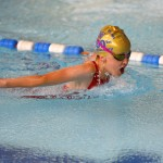 A young swimmer from Everton SC