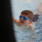Great effort from young swimmer