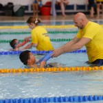 Staff provided great support to the swimmers
