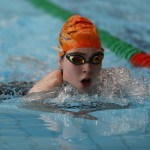 Breaststroke action