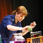 An experiment is conducted on the main stage