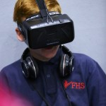 Pupils could try out the latest equipment and technologies