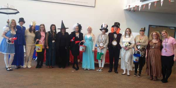 Staff from Rainford High School dress as their favourite book characters